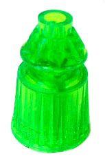 "550-5034-11 Fluorescent Green Translucent Star Post 1-1/16"" Tall"