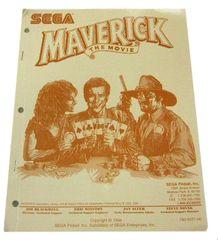 Maverick The Movie NOS factory original manual. Sega part #780-5031-00.