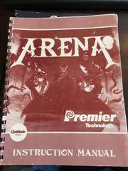 Gottlieb Premier Arena Instruction Manual / Schematics