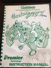 Gottlieb Cactus Jack's Instruction Manual / Schematics