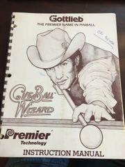 Gottlieb Cue Ball Wizard Instruction Manual / schematic