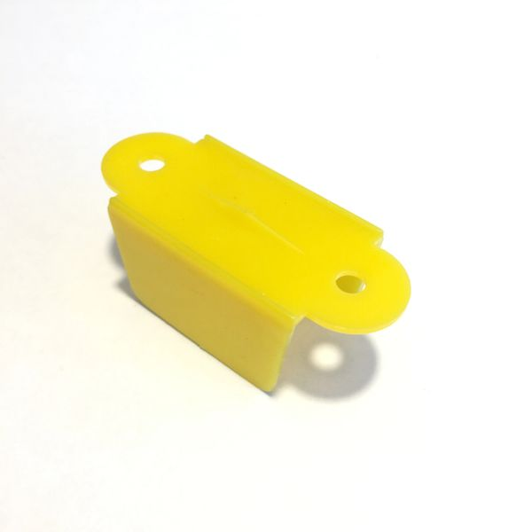 "Yellow Opaque Lane Guide 2-1/8"" C-693 PG43"