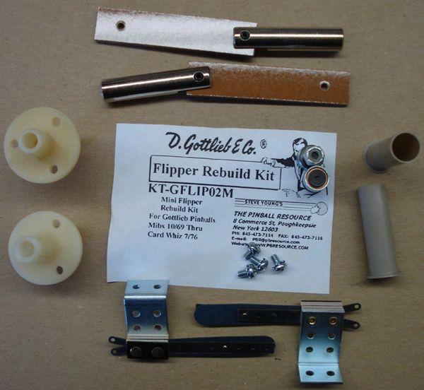 Gottlieb Flipper Rebuild Mini Kit - Mibs 9/69 - Card Whiz 7/76