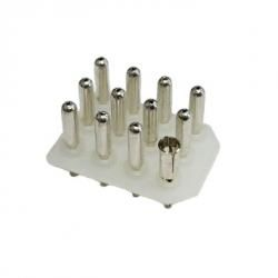 "4x3 PCB Header Wafer - 1 socket 11 pins - 0.093"" 09-18-5121"