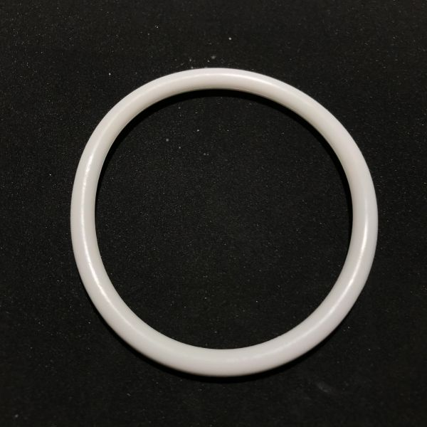 Premium Silicone White Ring 3""