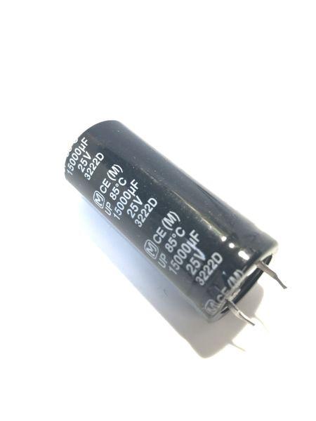 Capacitor 15000uF 25V.- taller than normal