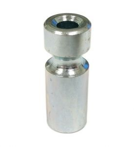 """02-4434 1"""" Metal Post with groove for 3/16"""" Ring"""