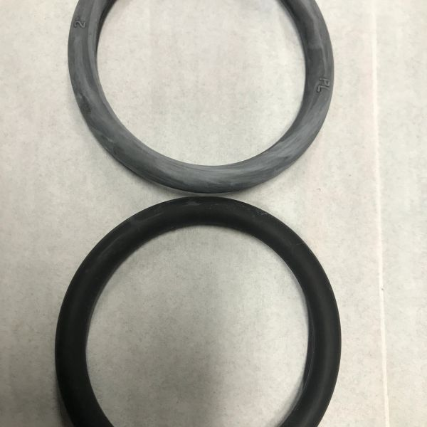 "Black Rubber Ring 2"" - SECONDS"