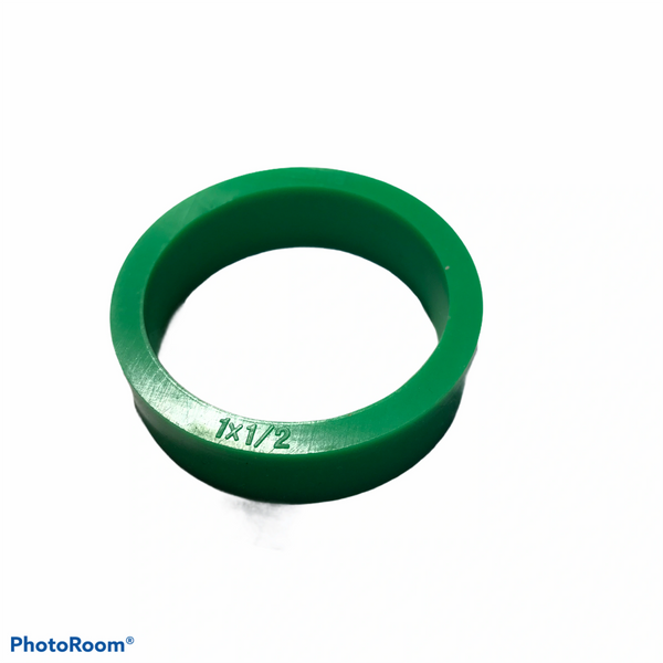 """PerfectPlay™ Silicone Flipper Rings 1-1/2"""" x 1/2"""" GREEN"""