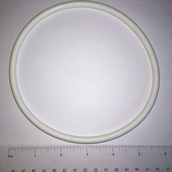 "White Rubber Ring 6"" - Silicone Premium White"