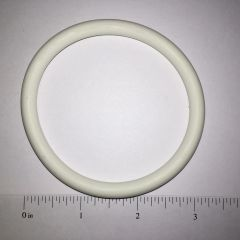 "White Rubber Ring 2-3/4"" - Premium Silicone White"