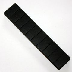 Black Target Foam Pad - strip of 10