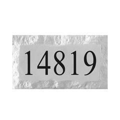 "CHISELED PRE-CAST STONE ADDRESS BLOCK 9"" x 15"""
