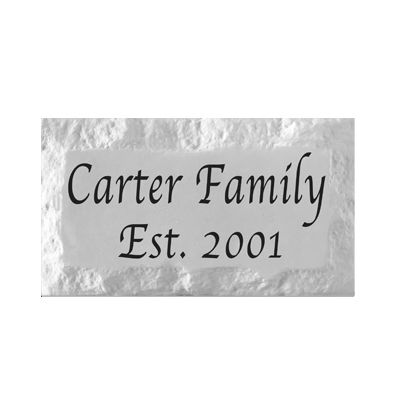 "Personalized Name Plaque. 9"" x 15"" Chiseled Style Family Name Pre-Cast Stone Plaque"