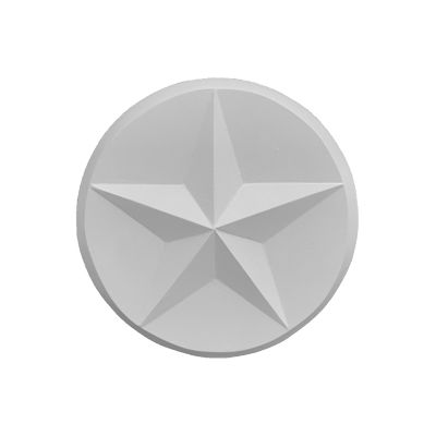 "Round Texas Star Cast Stone Wall Medallion. Outdoor Fireplace Concrete Plaque. 14"" Diameter"