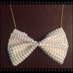 Pearl Bow Tie Necklace