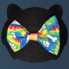 Tye Dye Doggie Bow Tie