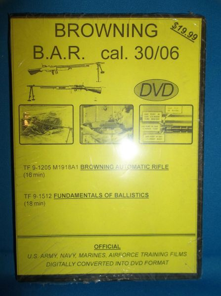 BROWNING B.A.R. cal. 30/06 NATIONAL ARCHIVE COMPILED TRAINGING FILM DVD
