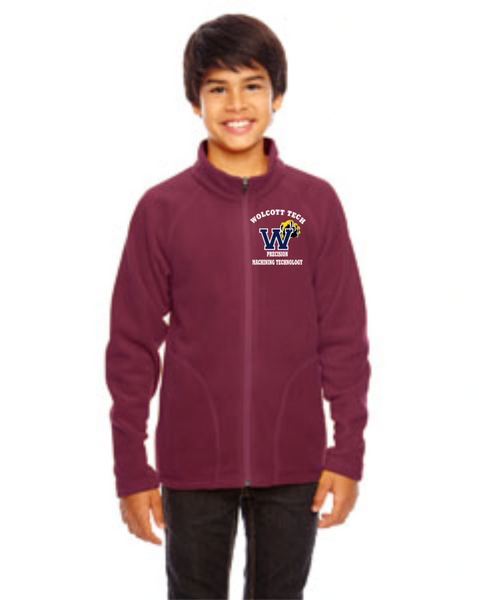 PRECISION MACHINING Team 365 Youth Campus Microfleece Jacket