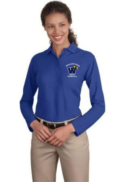Health Tech Ladies Long Sleeve Polo