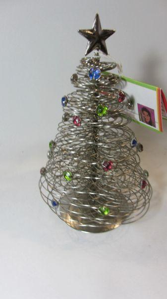 Wire Christmas Tree.Handmade Wire Christmas Tree