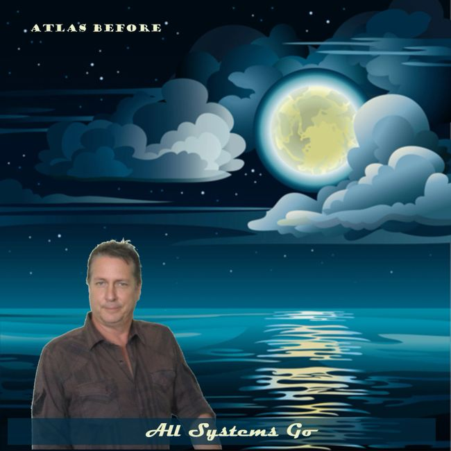 CD Cover art for 'All Systems Go' by Atlas Before featuring David Denton.  The Moon In The Sea.