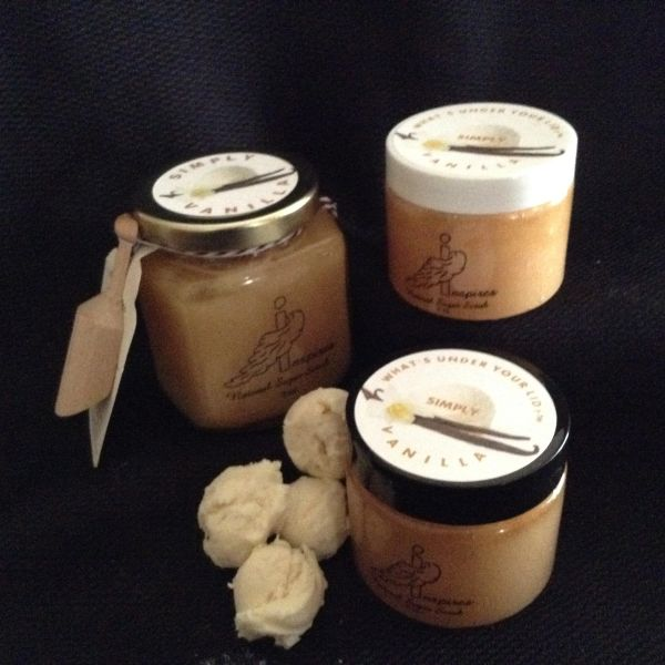 Simply Vanilla/Face & Body Scrub/Glass Jar 9oz.