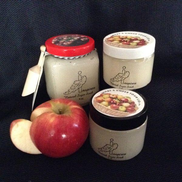Country Apple/Face & Body Sugar Scrub/ Glass Jar 9oz.
