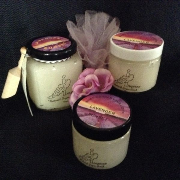 Lavender Sunset/Face & Body Scrub/Glass Jar 9oz.