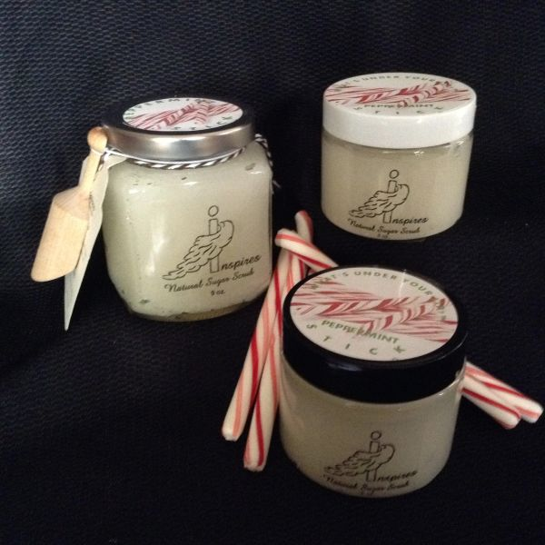 Peppermint Stick/Face & Body Scrub/ Glass Jar 9oz.