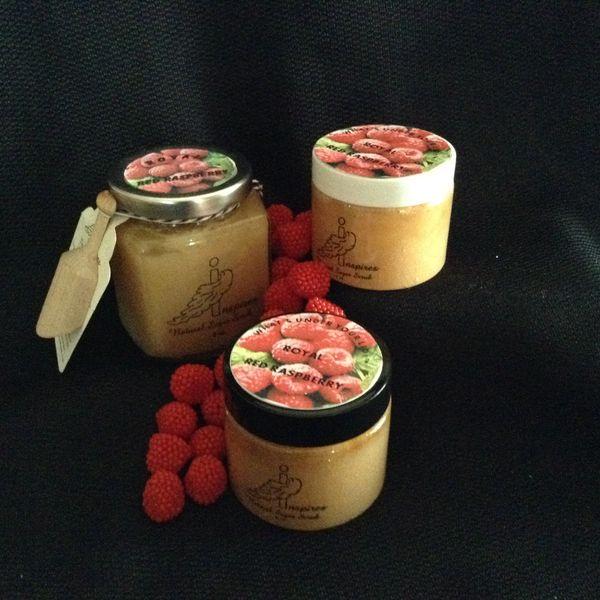 Royal Red Raspberry/Face & Body Sugar Scrub/Glass Jar 9oz.