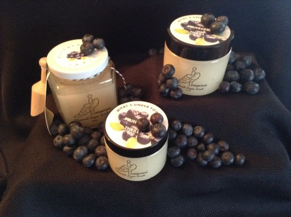 Blueberry Thrill/Face & Body Sugar Scrub/Glass Jar 9oz.