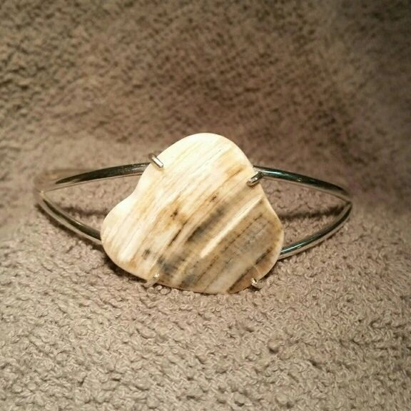 Brown Clamshell Cuff Bracelet