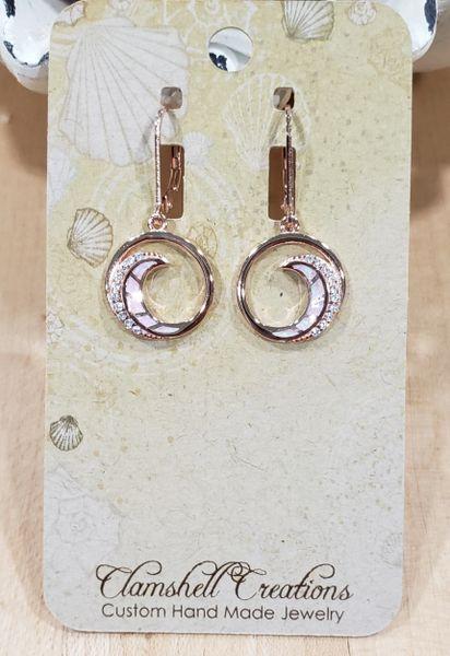 Rose gold Wave Earrings