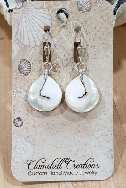Sliced Shell Earrings