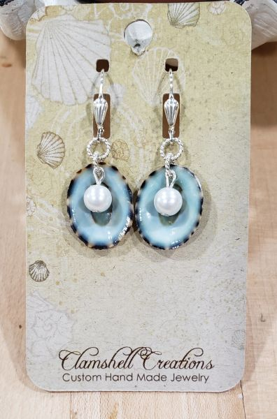 Blue Limpet Earrings