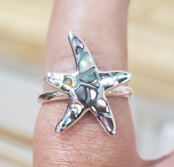 Abalone Starfish Ring