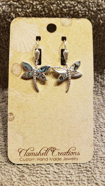 Abalone Dragonfly Earrings
