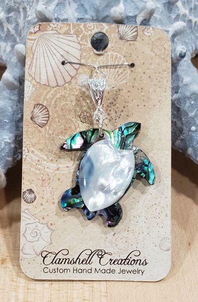 Abalone Turtle Pendant
