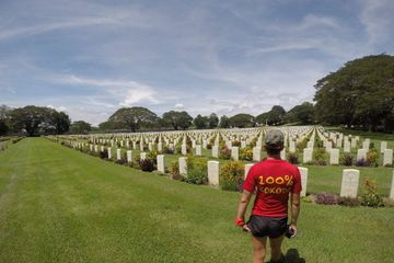 100% Kokoda at the Bomana War Cemetery in Port Moresby in Papua New Guinea