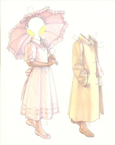 THE GIRLS OF ROSEBROOKE SCHOOL PAPER DOLL ALLISON BY KATHY LAWRENCE 1999 UNCUT