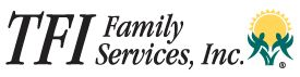 Logo of TFI family services - who we partner with in support of foster families