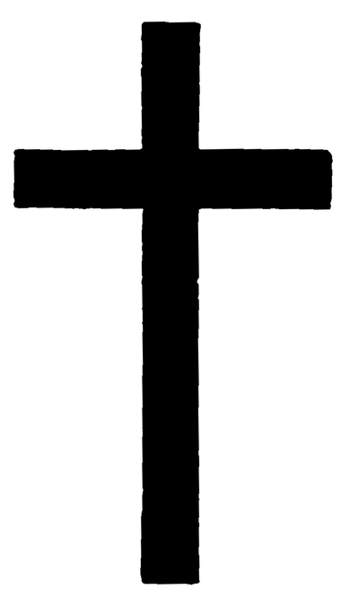 An image of a Latin Cross, a simple cross longer vertically than horizontally, as a Christian Symbol