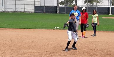 sant monica softball academy fielding camp