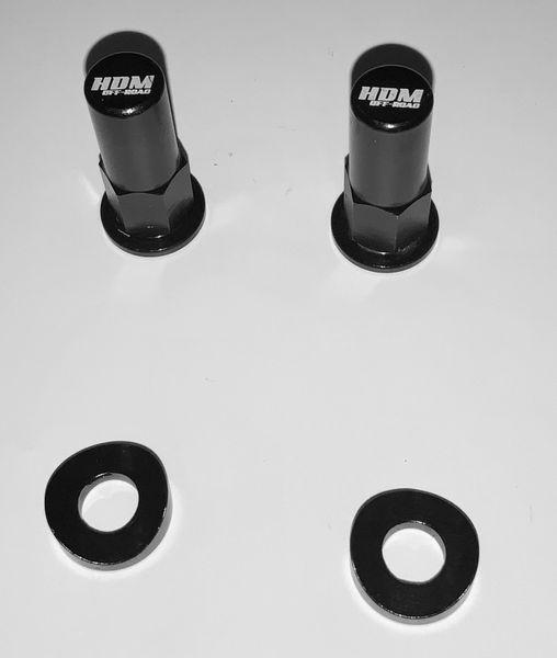 Motorcycle Rim Lock Nut /Spacer Kit BLACK