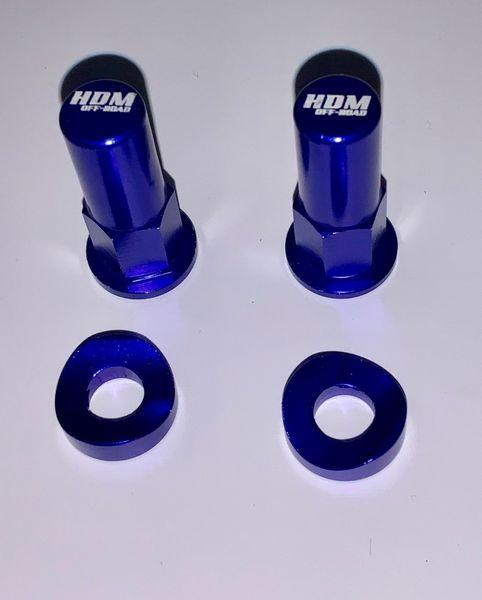 Motorcycle RIM LOCK NUT / SPACER KIT BLUE