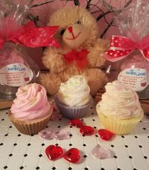 Valentine Shea Butter Cupcake Soap (pkg of 3)