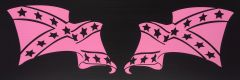 ONE LAYER NINE INCH PINK VINYL REBEL WINDOW DECAL