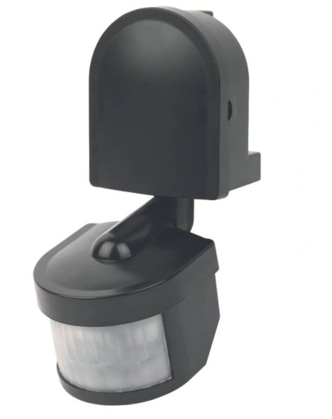 Sensor PIR Black 140º 12M max