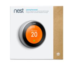 Nest Learning Thermostat - 3rd generation, Stainless Steel, Copper, Black, White.